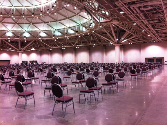 To walk into a room with one thousand pairs of chairs facing each other was incredible.  My heart swelled as the mission of the day really started to sink in and become real…