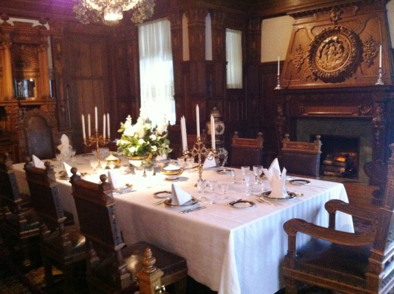 The formal dining room.  Just one more example of the fact that very wealthy people designed and constructed this home.